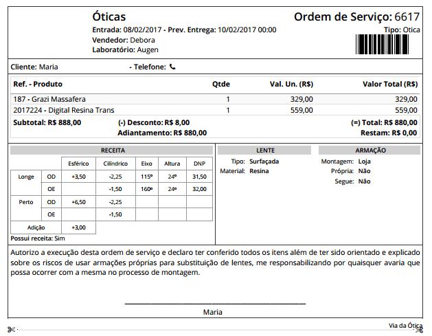 modelo de ordem de serviço